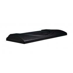 Capac Aristo 80/35 negru cu neon 2x18 W